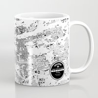 prague Mugs featuring PRAGUE by Maps Factory