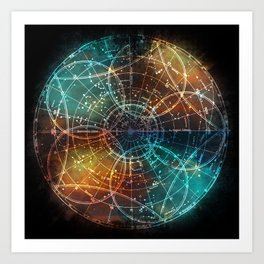Star Map Art Print