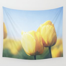 Yellow Tulips Wall Tapestry