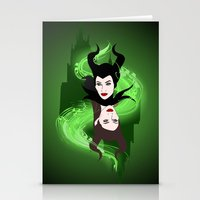 maleficent Stationery Cards featuring Maleficent by Pendientera