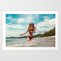 Ocean Air, Salty Hair Art Print