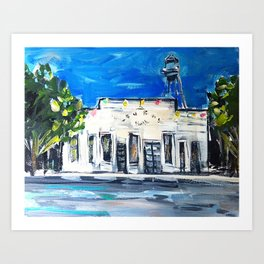 Gruene Hall Colored Lights Art Print