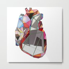 Geometry heart Metal Print