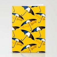 umbrella Stationery Cards featuring Umbrella  by Saundra Myles