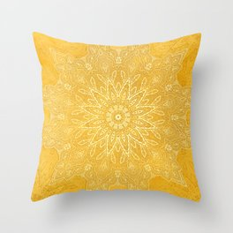 fine sun star mandala Throw Pillow