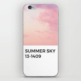 Summer Sky Sunset Pink Orange Watercolor Pantone Chip iPhone Skin
