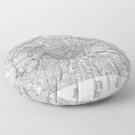 Paris Map Line Floor Pillow