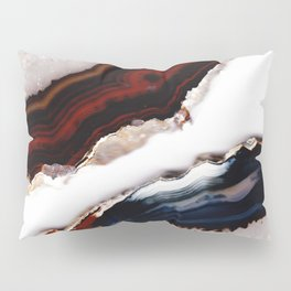 Red meets Blue - Agate Translucent #1 #decor #art #society6 Pillow Sham