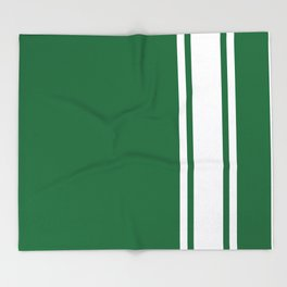 Green Racer Throw Blanket