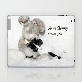 Easter bunny and kitten Laptop & iPad Skin