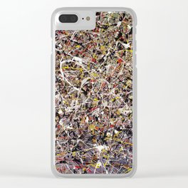 Intergalactic - abstract painting by Rasko Clear iPhone Case