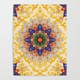 Gold mandala pattern Poster