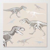 dinosaurs Canvas Prints featuring Dinosaurs by Darish