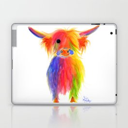 Scottish Highland Cow ' TOTTIE ' by Shirley MacArthur Laptop & iPad Skin