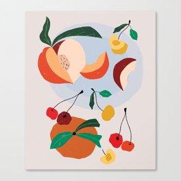 Peaches & Cherries Canvas Print