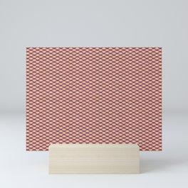 Purple Fishnet Texture on Pale Skin Mini Art Print