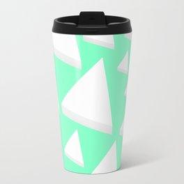 White Triangles Travel Mug