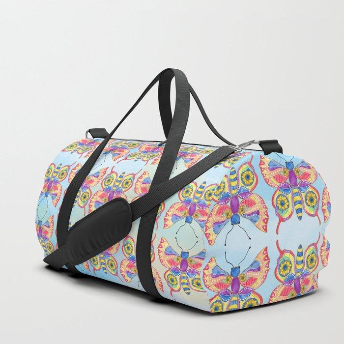 Sunflower Butterfly Duffle Bag