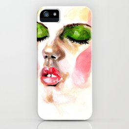 Painting of Lindsey Wixson iPhone Case