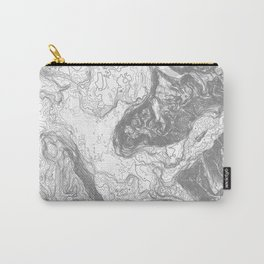 NORTH BEND WA TOPO MAP - LIGHT Carry-All Pouch