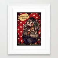 rabbit Framed Art Prints featuring Rabbit by AKIKO