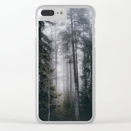 Into the forest we go Clear iPhone Case