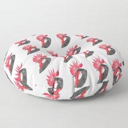 Rooster Portrait Floor Pillow