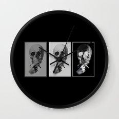 skull#05 Wall Clock