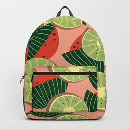 Watermelons and kiwis Backpack