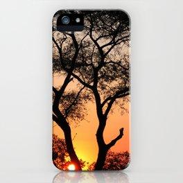 Sunset in Africa iPhone Case