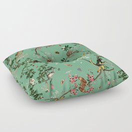 Monkey World Green Floor Pillow