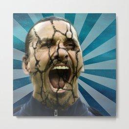Zlatan Ibrahimovic Scream Metal Print