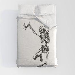 Dancing Skeleton   Day of the Dead   Dia de los Muertos   Skulls and Skeletons   Comforters