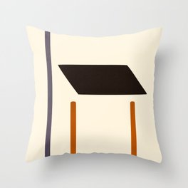City Store Front Abstract Throw Pillow