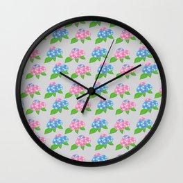 Hydrangea Pattern_A Wall Clock