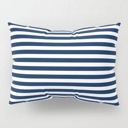 Striped Navy Blue Pillow Sham