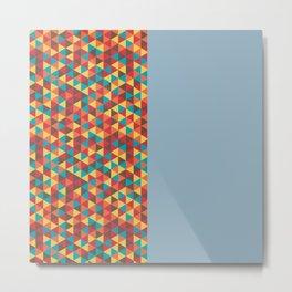 Retro Bicolore Geometric Design Metal Print