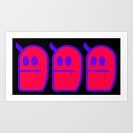 3 Mr. Grubbo Art Print