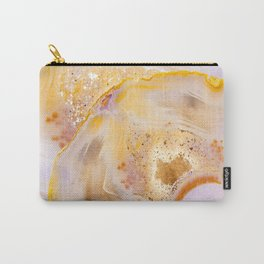 Modern Blush and gold Agate Carry-All Pouch