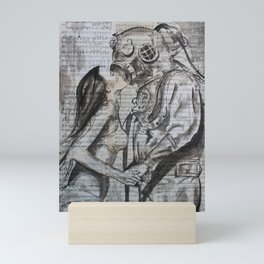 Deep Dive Kiss Mini Art Print