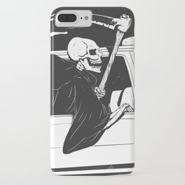 Passenger taxi grim - black and white - gothic reaper iPhone Case