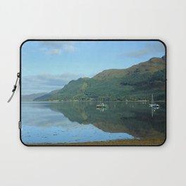 Scottish Highlands Lake with Boats Laptop Sleeve