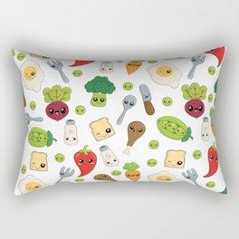Cute Kawaii Food Pattern Rectangular Pillow