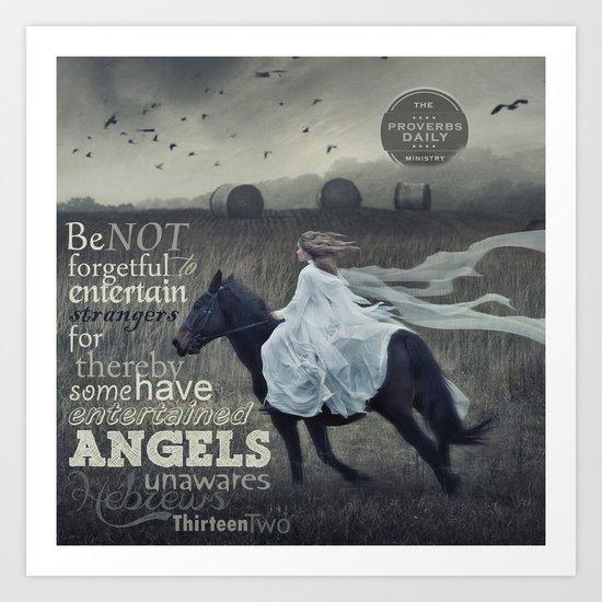 Angels Unaware Art Print