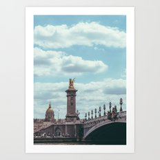 Pont Alexandre III, Paris  Art Print