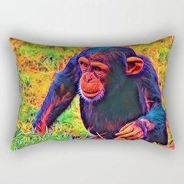 AnimalColor_Chimpanzee_006_by_JAMColors Rectangular Pillow