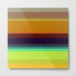 Color stripes I Metal Print
