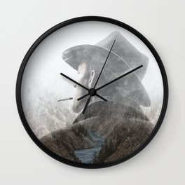 Mountain's Cowboy by GEN Z Wall Clock