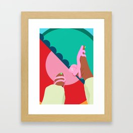 neon feet Framed Art Print