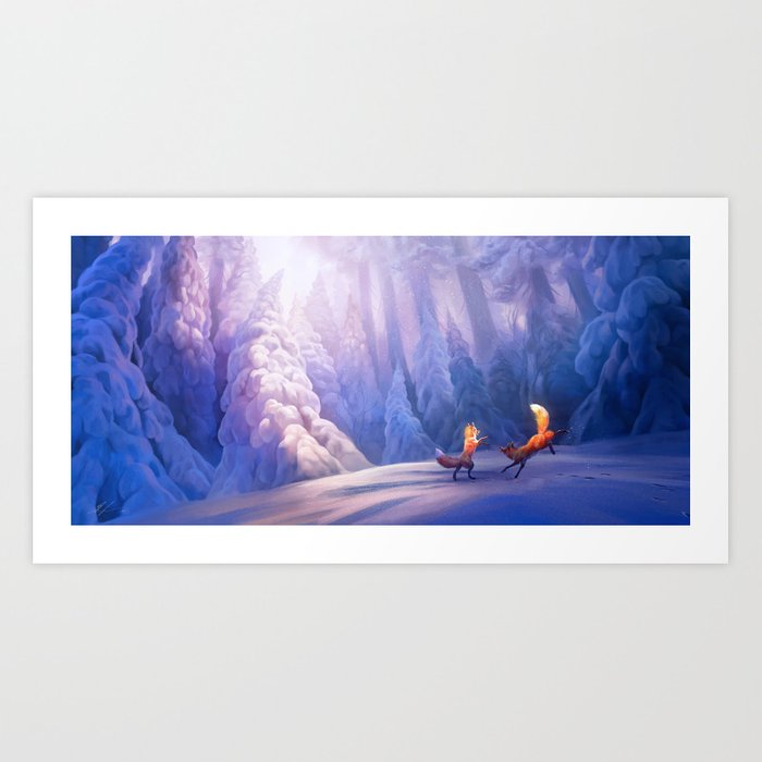Fox play Art Print